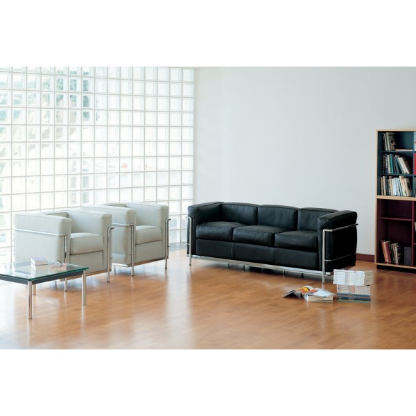 canap lc2 le corbusier cassina fauteuil lc2 cassina canap lc2 cassina authentics design. Black Bedroom Furniture Sets. Home Design Ideas